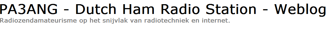 PA3ANG - Dutch Ham Radio Station - Weblog